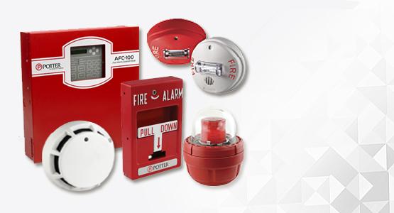Potter fire panels, smoke detectors, sprinklers