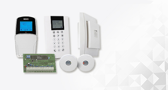 Risco alarm keypads, PIR detectors, alarm panels