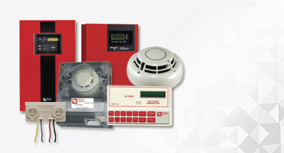 Silent Knight fire control panels, heat detectors, smoke detectors, notification devices